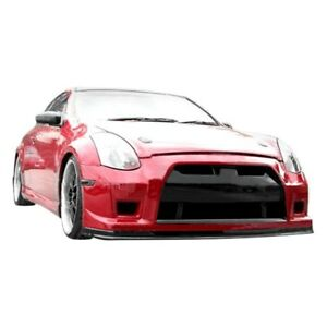 For Infiniti G35 03 07 Gt R Style Fiberglass Front Bumper Cover Unpainted