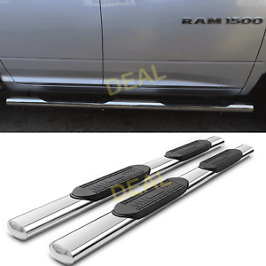 2pcs 5 Oval S s Side Step Nerf Bars Fit 09 18 Dodge Ram 1500 Quad extended Cab