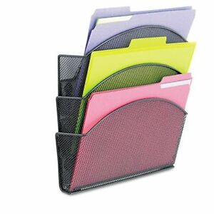 Safco Magnetic Triple File Pocket 13 5 Height X 12 5 Width X 4 4175bl