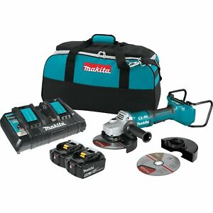 Makita 18v 5 0ah X2 Lxt Lithium Ion Brushless Cordless 7 Inch Angle Grinder Kit