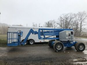 clean Low Hours Z45 25 4wd Lp gas Articulating Boom Lift Aerial