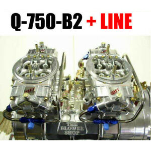 Quick Fuel Q 750 B2 750 Cfm Clear Supercharger Gas Blower Carbs And Fuel Lines