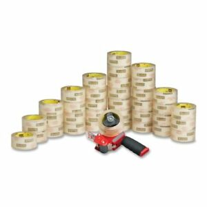 Scotch Packaging Tape With Pistol Grip Dispenser 1 88 Width X 54 68 Yd Length