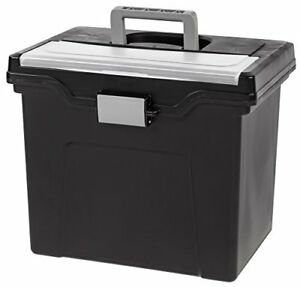 Iris Portable Letter size File Box External Dimensions 13 8 irs110977