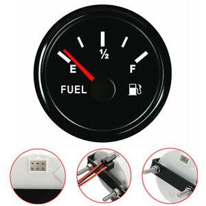 12 24v 52mm Universal Car Marine Fuel Level Gauge Trim Tank Indicator 240 33ohms