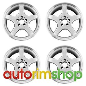 Mercedes Clk430 2002 2003 17 Factory Oem Amg Staggered Wheels Rims Set