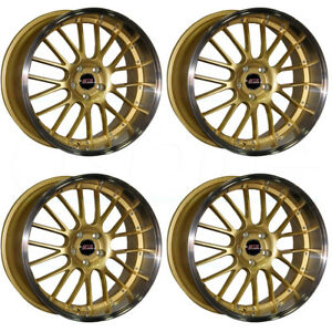 18x8 5 Str 514 5x114 3 30 Gold Machine Lip Wheels Rims Set 4