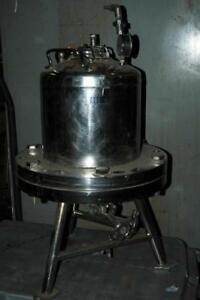 Alloy Products 15l 316l Stainless Steel Pressure Pot Tank Vessel Reactor 60 Psi
