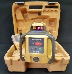 Topcon Rl h4c Rotary Laser Level System 13