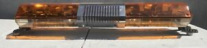 Code 3 Mx 7000 Amber 47 Light Bar With Arrowstik And Grill New Domes
