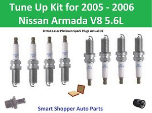 Tune Up For 2005 2006 Nissan Armada V8 Oil Filter Air Filter Pcv Spark Plugs