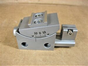 Goniometer Rotary Angle Stage 40mm X 25mm 10 Degree With Rail Steel