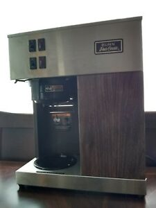Commercial Bunn Pour Over Coffee Maker Vpr 04276 0003 2 Burner Pot Warmers