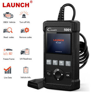 Launch Cr5001 Obd2 Code Reader Scanner Engine Light Check Auto Diagnostic Tool