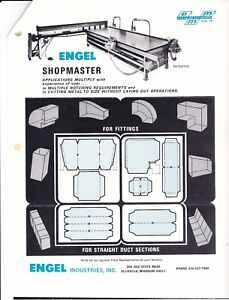 Engel Shopmaster Sheet Metal Duct Cutter notcher 18g 48 X 120 Sheet
