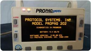 Welch Allyn Protocol Propaq 202 El Multi parameter Patient Monitor 156928