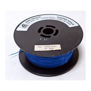 Cooper Wire wrap 990095 Si 24 Awg Hook up Silver Plate Copper Blue Teflon 1000