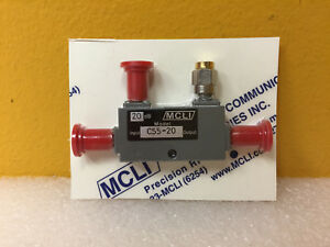 Mcli C55 20 1 7 To 2 4 Ghz 20 Db Sma f Octave Directional Coupler New
