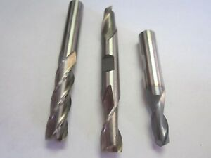 Assorted Lot Of 3 Hss Rh 2 4 Flute Square End Mills 9 32 3 8 New