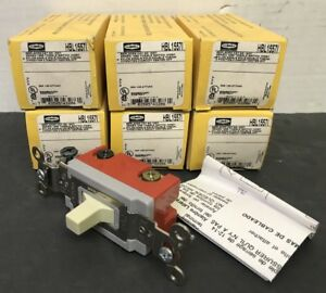 Lot Of 6 Hubbell Hbl15571 20a Momentary Double Throw Switch Ivory 3 Pos 120 277v