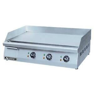Adcraft Grid 30 30 Countertop Electric Griddle Flat Top Grill
