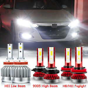 Combo Led Headlight Kit High Low Fog Light Bulbs For Honda Accord 2013 2014 2015
