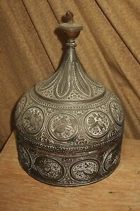 Antique Asian Oriental Bronze Or Brass Box Indian India
