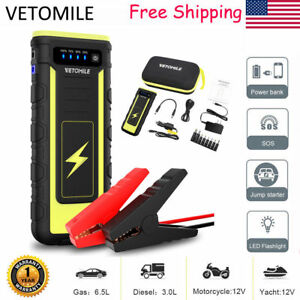 Portable 21000mah 800a Car Jump Start Engine Battery Charger Power Bank Booster