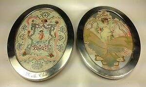 Antique Watson Co Two Sterling Silver Oval Photo Frames 2717 99