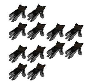 Showa Atlas 370 Black Nitrile Dipped Pair Of Gloves Large 12 Pack