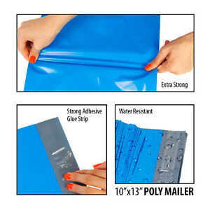 Blue Poly Mailers Shipping Envelopes Self Sealing Mailing Bags All Sizes Polybag
