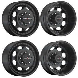 4 new 17 Vision 181 Hauler Dually Wheels 17x6 5 8x210 121 143 Black Rims
