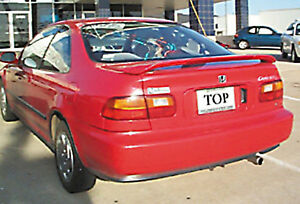 Unpainted Factory Style Spoiler For A Honda Civic 2 Door Coupe 1993 1995