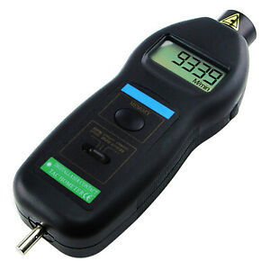 2in1 Contact Non contact Laser Tachometer Ft M min Auto Ranging 0 5 99 999rpm