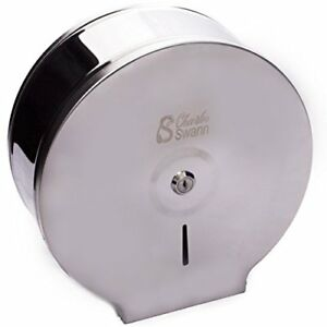 Charles Swann 9 Commercial Stainless Steel Toilet Paper Dispenser
