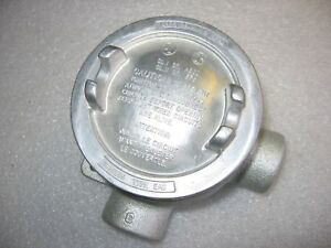 Crouse hinds Eabl16 Explosion Proof Mall Iron Conduit Outlet Box 1 2 Threaded