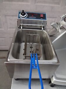 Commercial Pro Deep Fat Fryer 10 Lbs Electric 120 Volts Nsf Food Truck