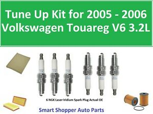 Tune Up For 2005 2006 Volkswagen Touareg 3 2l Oil Filter Air Cabin Filter Spark