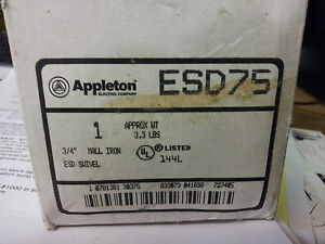 Appleton Esd75 New In Box 3 4 Mall Iron End Swivel b10