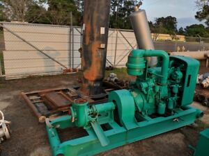 Mission 3x4r Water Oil Well Circulating Mud Pump With Detroit 3 53 Diesel Engine