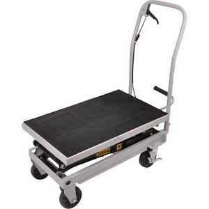 Rolling Table Cart 500 Lb Capacity Heavy Duty Hydraulic Cart W foot Pump Dolly
