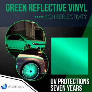 Reflective Green Sign Vinyl Adhesive Safety Plotter Cutter 12 x10ft 651 Usa 1