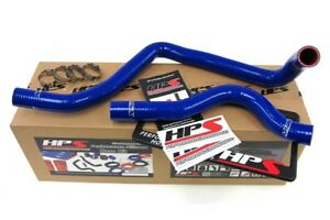 Hps Blue Silicone Radiator Hose Kit For Acura 97 01 Integra Type r 57 1207 blue