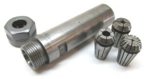 Lyndex Er16 Collet Chuck Extension W 1 Shank 3 Collets