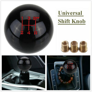 5 Speed Universal Round Ball Gear Shift Knob Throw Shifter Lever M10x1 5 Black