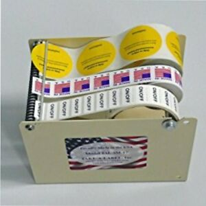 Shipping Label Dispenser 5in Roll Table Top Manual Packaging Sticker Office Home