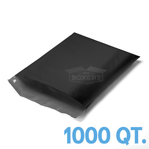 1000 6x9 Black Poly Mailers Envelopes Bags 6 X 9 2 5mil From The Boxery