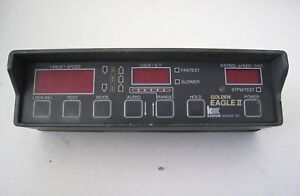 Kustom Signals Golden Eagle Ii Display Face Plate Police Speed Radar
