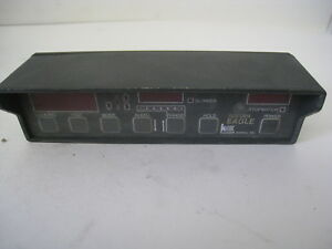 Kustom Signals Golden Eagle Display Face Plate Police Speed Radar