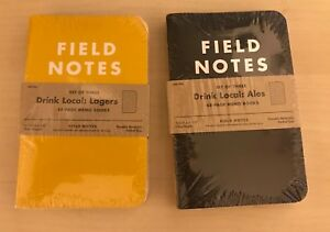 Field Notes Drink Local Limited Edition Ales And Lagers Two 3 packs